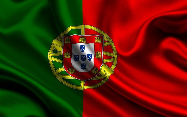 Portuguese flag, 4k, silk, flag of Portugal, flags, Portugal flag