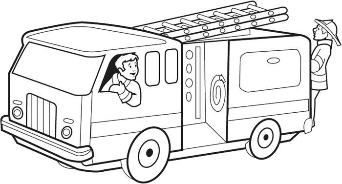 Free Fire Truck Coloring Pages Printable Fire Truck Drawing Fire Trucks Firetruck Coloring Page