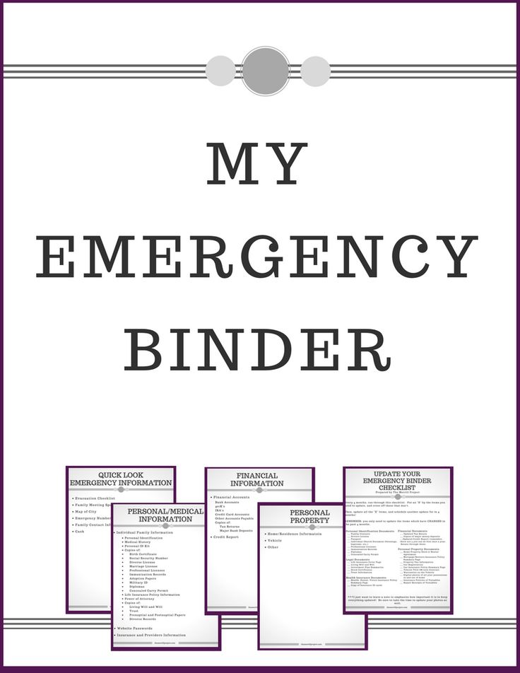 The  Best Emergency Binder Free Printables Ideas On