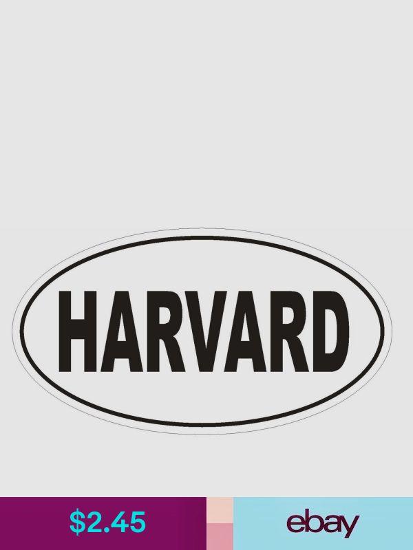 HARVARD Oval Bumper Sticker or Helmet Sticker D1828 Euro Oval University