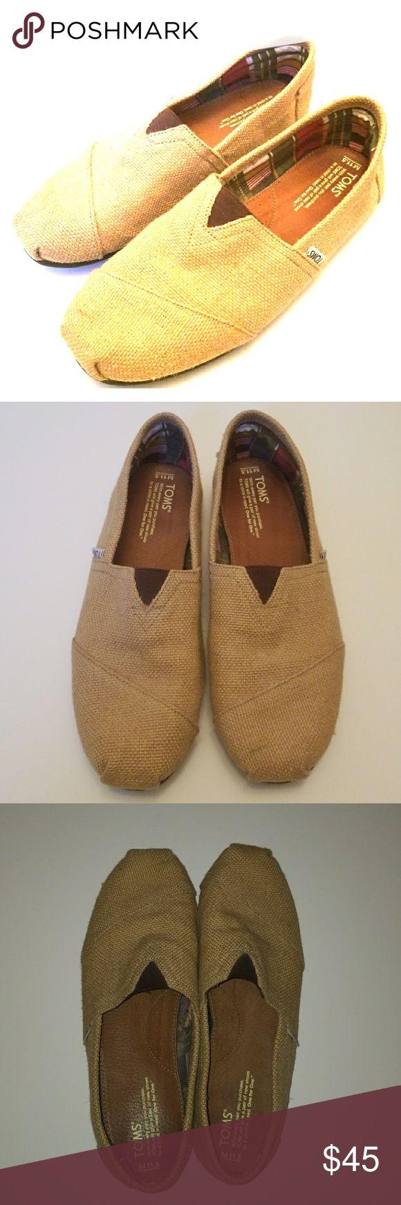 Burlap Toms Mens Sz 11.5 burlap Toms. Toms Shoes