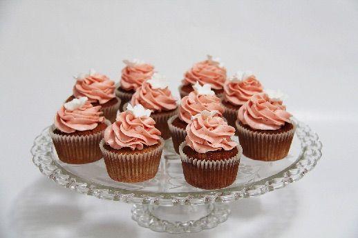 Jordbær cupcakes
