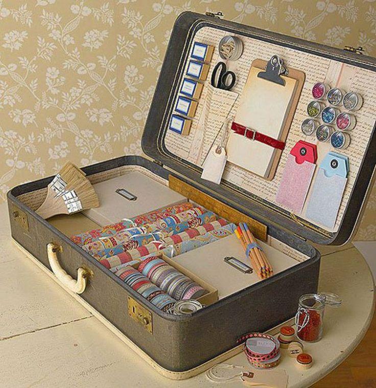 vieille-valise-transformée-en-rangement