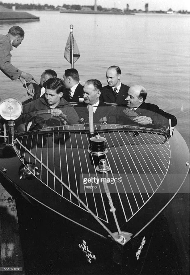 Prince Mihai (later HM King Michael I of Romania) sailing the motor boat presented to him by the President of Czechoslovakia. ROMANIANS ASK FOR THEIR MONARCHY BACK! https://www.facebook.com/despremonarhie — Principele de Coroană Mihai (mai târziu Majestatea Sa Regele Mihai I al României) conducând barca cu motor ce îi fusese dăruită de președintele Cehoslovaciei. ROMÂNII ÎȘI VOR MONARHIA ÎNAPOI! https://www.facebook.com/despremonarhie