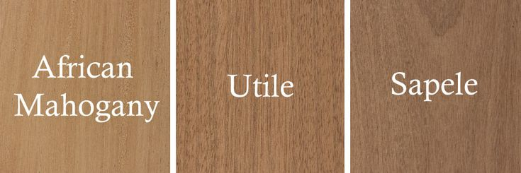 Explaining the difference between African Mahogany vs Sapele vs Utile Lumber when it comes to color, origin, and uses. We are the mahogany experts.
