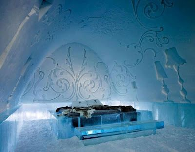 They call it ice-hotel! I would like to say: my home is my castle,lol