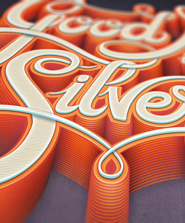 Fantastic Lettering project from Mario De Meyer, with nice 3D style and textures. Find more pictures on Behance. And don't forget to follow us on Instagram! ;-)