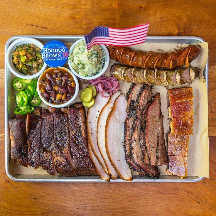 One day I will see one of these amazing platters in person Pic and Q courtesy of @hoodoobrownbbq -  Saturday means Platterday. This tray has everything #ribs #brisket #porkbelly #turkey #sausage #beans and #potatosalad. What more do you need? . . .  #HoodooBrown #BBQ #makebbqgreatagain #eater #Food #Foodie #FoodPhotography #Foodstagram #InstaFood #Meat #MeatLover #MeatPorn #EEEEEATS #ForkYeah