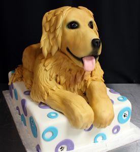 Golden Retriever Dog Birthday Cake – Pictures Of Cakes cakepins.com