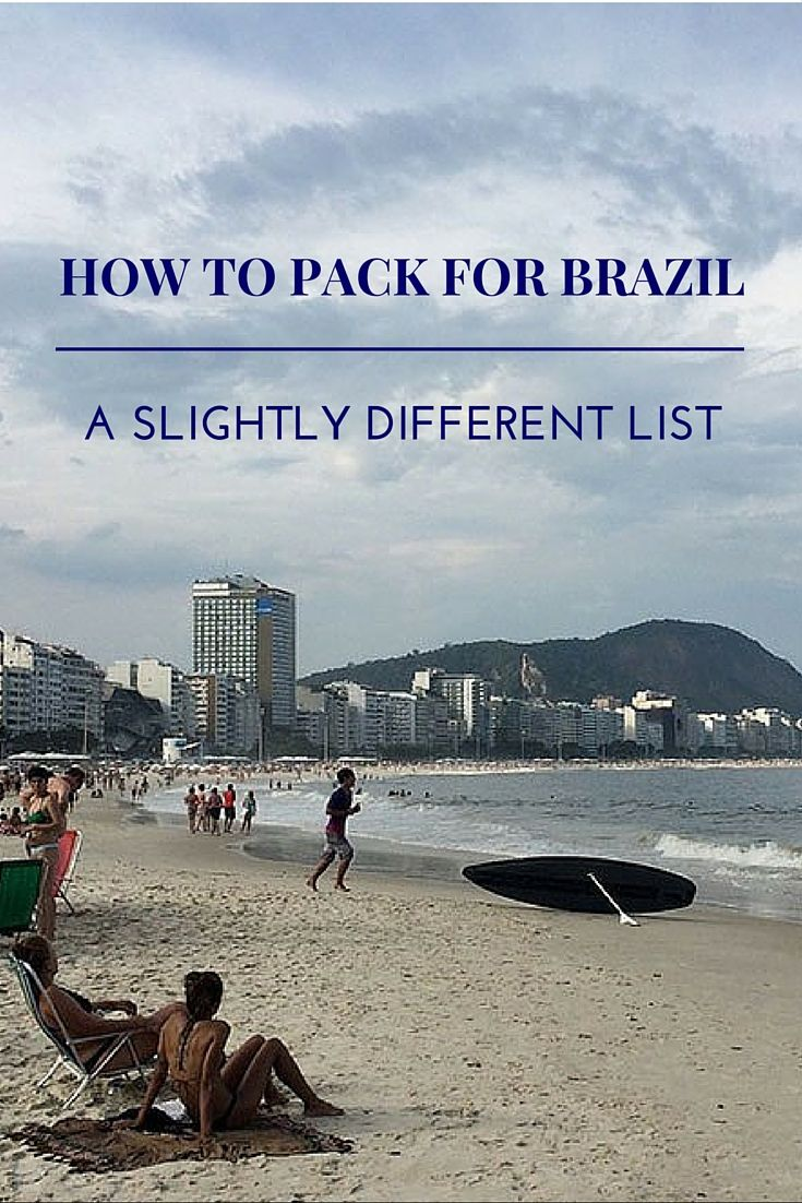 Going to Brazil and not sure what to pack? Check out my ultimate yet slightly different travel packing list for Brazil - what to take and what not to take.