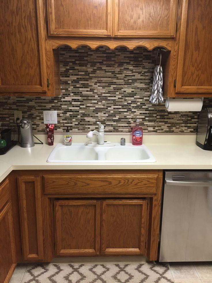 Quick and Easy Kitchen Upgrade: Vinyl Tile Backsplash