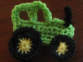 Free Crochet Tractor Applique | ... free and i would like them to stay that way you are free to print them