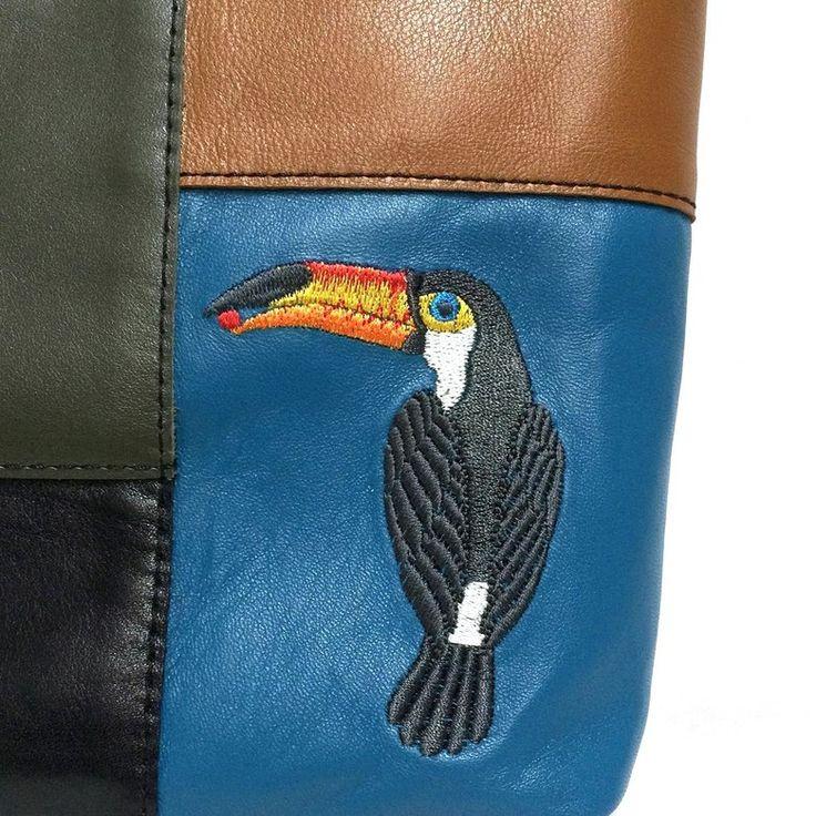 Кожаная сумка «Тропикана» | Tizetta | Торжокские золотошвеи