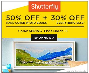 ShutterFly Coupon Codes: Get a Free 16 x 20 print or (2) 8x10 prints plus 50% off Hard Cover photo books with Coupon Code!! Hurry Limited Time.... : #CouponCode, #Coupons, #Deals, #Freebies, #OnlineDeals Check it out here!!