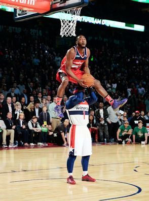 John Wall with the incredible dunk in the 2014 Dunk Contest