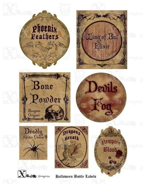 Vintage Halloween Label: