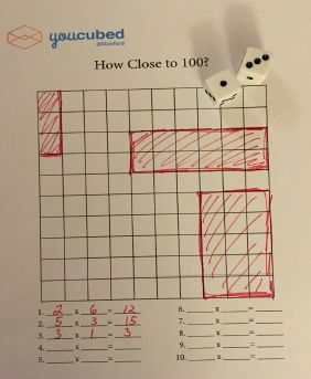 Here's a game where students practice generating arrays while trying to get close to 100.