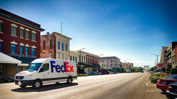 FedEx Express Mercedes Sprinter delivery vehicle in Alabama, USA