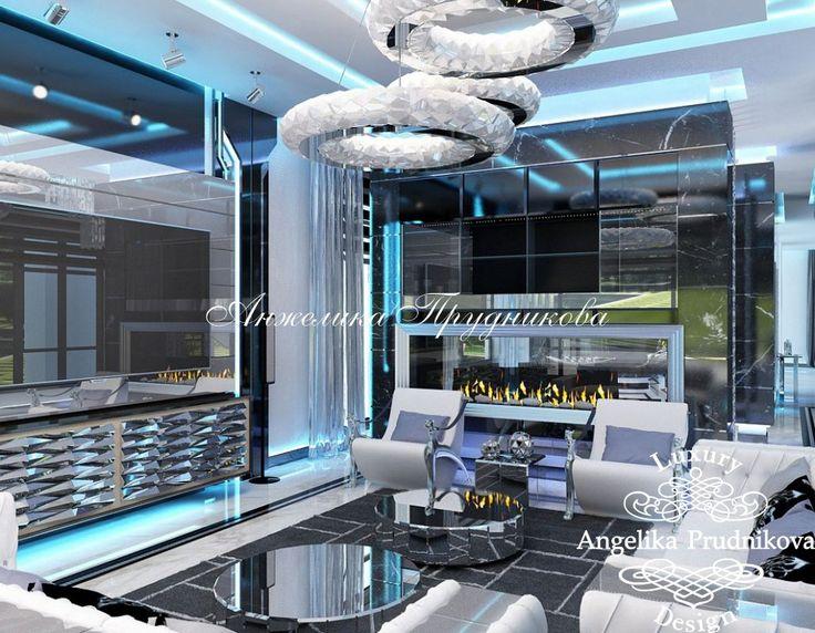 Дизайн проект интерьера гостиной на Рублевке - фото