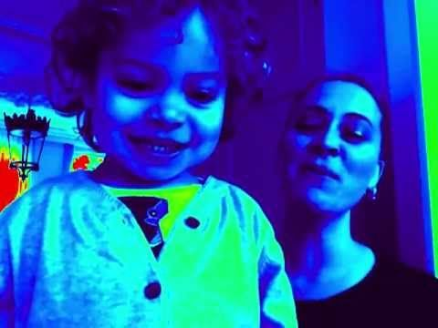 Seriously, this is how I write songs during the day :-).... This is sooo sweet!!! Anouk and one of her children.