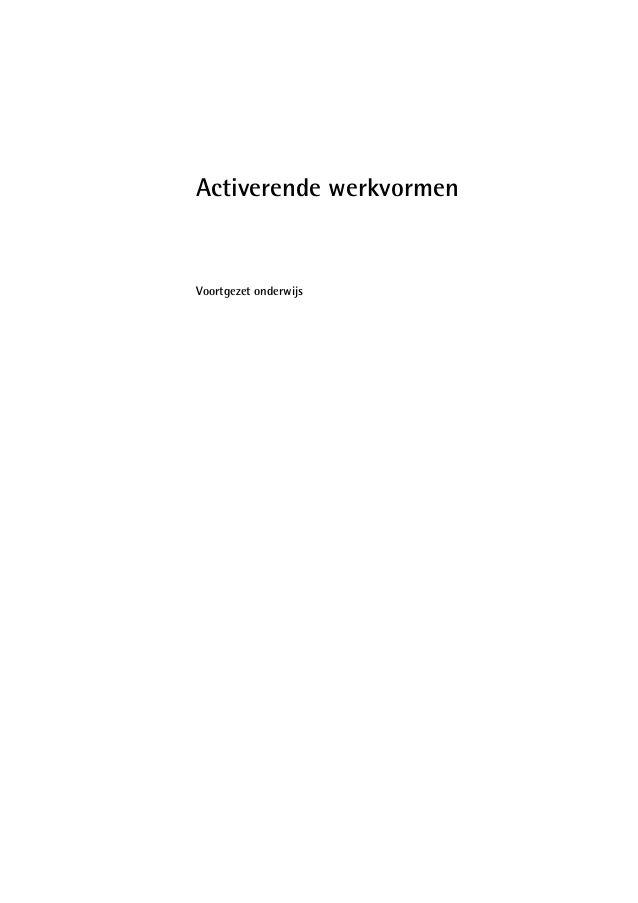Activerende werkvormen