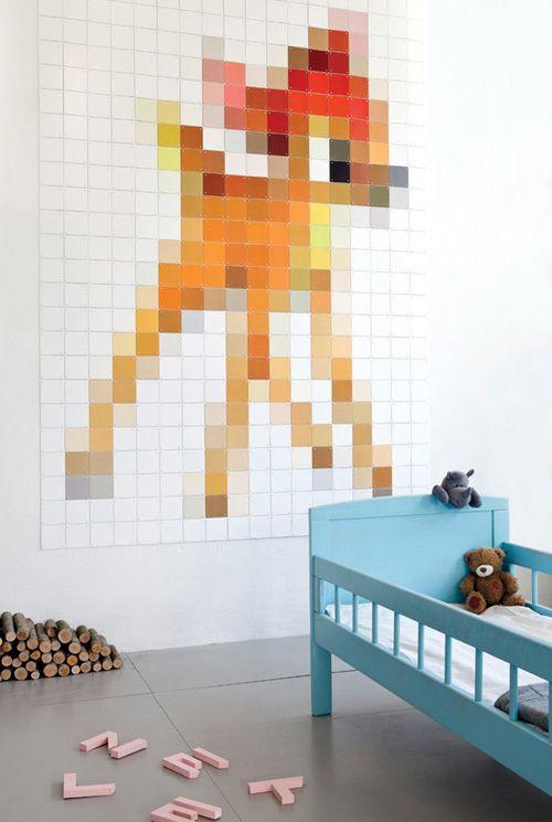 Wat is deze bambi gemaakt via ixxi toch ontzettend leuk! ixxi is een koppelsysteem van x-jes, i-tjes en kaarten waarmee je zelf een fotovergroting of fotocollage in elk gewenst formaat kunt maken. Zo kan je je je eigen behang of kunstwerk maken!