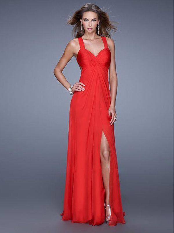 Kolumna na ramiączkach Bez rękawów do podłogi Szyfon Sukienki studniówkowe/Suknie wieczorowe #SP228