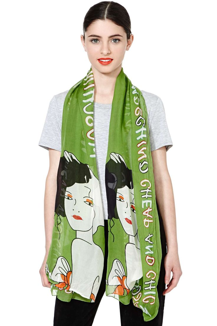 Moschino Mission To Paris Silk Scarf | Shop The Score at Nasty Gal