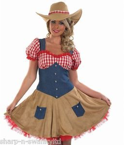 Femme-Sexy-Cowgirl-Far-West-Cowboy-Costume-Deguisement-8-26-Grande-Taille