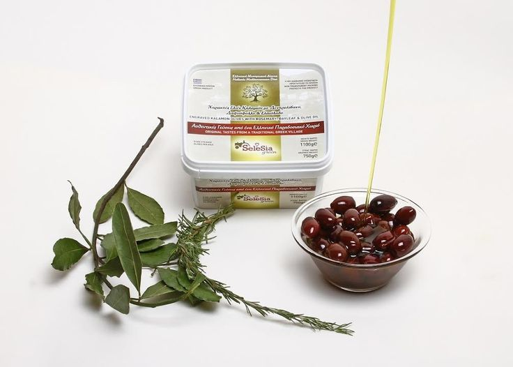 """Olives with rosemary,bayleaf and extra Virgin Olive Oil (engraved)""""SeleSia""""  We suggest you to taste this famous and special rich food, authentic Kalamon olives with the famous rosemary, bayleaf and Extra Virgin Oil. Rosemary, in cooking it is used as an aromatic component in a lot of dishes ."""
