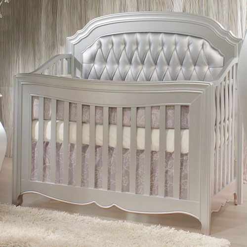 Alexa Convertible Crib Diamond Tufted Panels Furniture