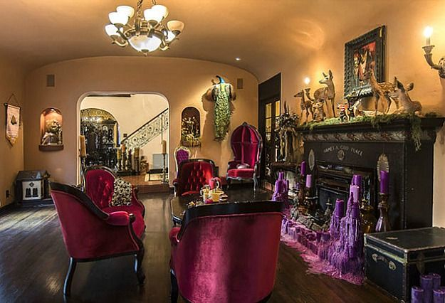 Kat Von D's Gothic Mansion Hollywood Hills (10)