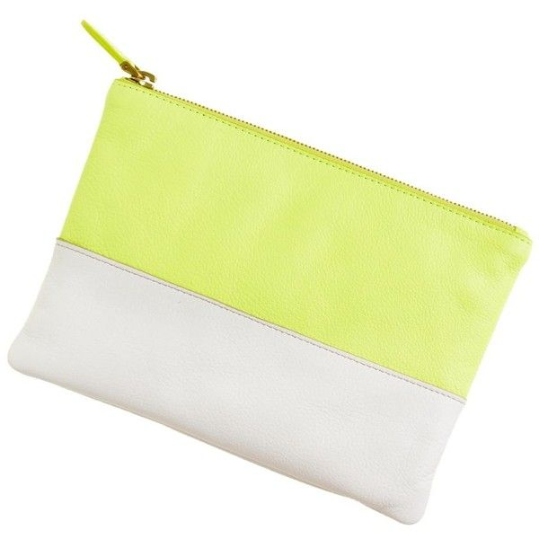 J.Crew Colorblock leather pouch (1 005 UAH) ❤ liked on Polyvore featuring bags, handbags, clutches, accessories, j.crew, leather pouch, genuine leather tote, leather tote purse, j crew tote and genuine leather handbags