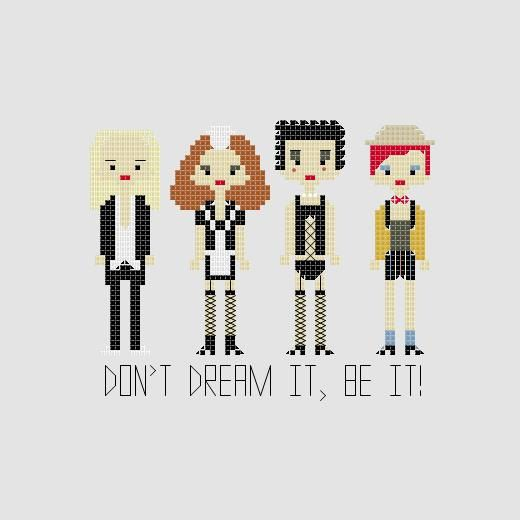 The Rocky Horror Picture Show Cross Stitch by YouMakeMeSewHappy, $3.99
