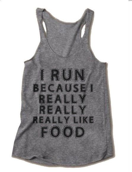 I Run Because Really Like Food In Gray Women Tank top Size S M L XL XXL. on Etsy, $18.00