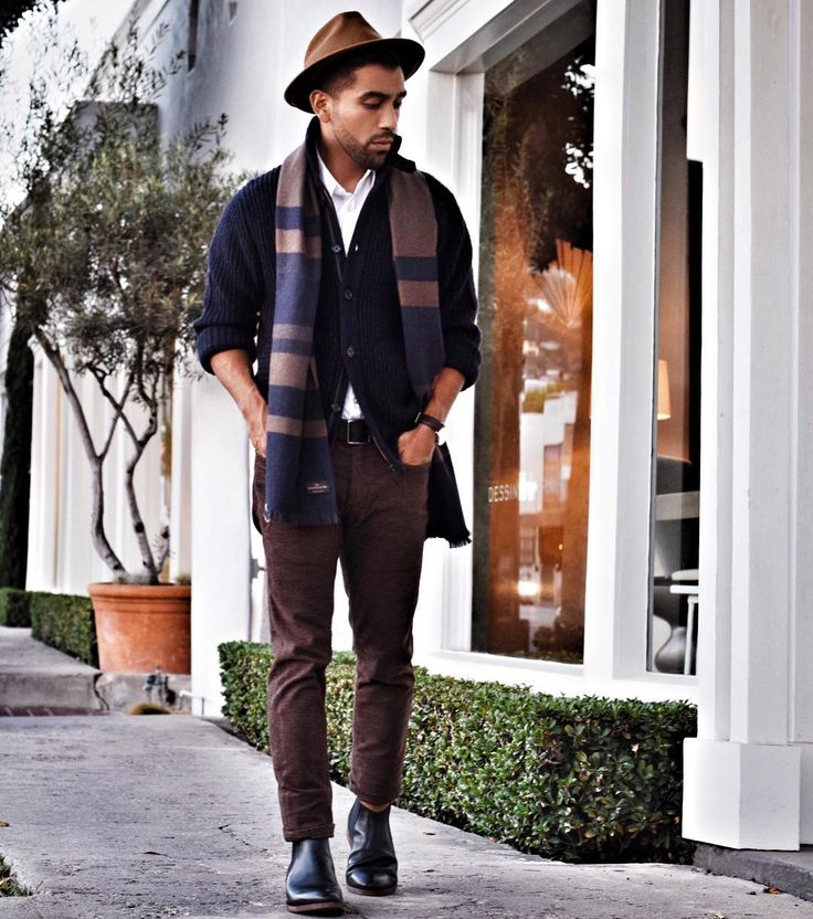 laid back // menswear, mens style, fashion, topcoat, navy, hat, scarf, winter, #sponsored