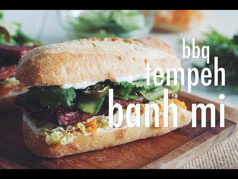 you'll be down with Meatless Monday when you taste theflavours going on in  our bbq tempeh banh mi sandwich!