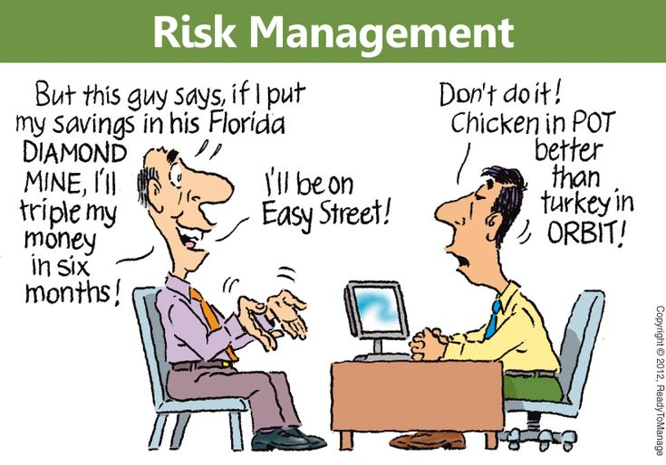 Risk Management Cartoon | Any kind of change generates a risk of some kind. If change is happening all around us and pretty much all of the time, we may consequently be faced with literally thousands of risks every day – enough to make some people want to never even get out of bed in the morning!