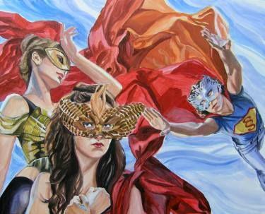 """Saatchi Art Artist Helena Janecic; Painting, """"February Superheroines"""" #art"""