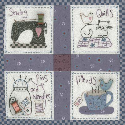 Sewing Friends Art Print by Lynette Anderson Designs | Society6