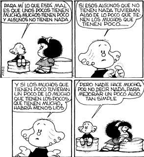 Desde que el dibujante argentino Quino creó a Mafalda, han pasado 50 años, pero las tiras cómicas siguen constituyendo la crítica más inte...
