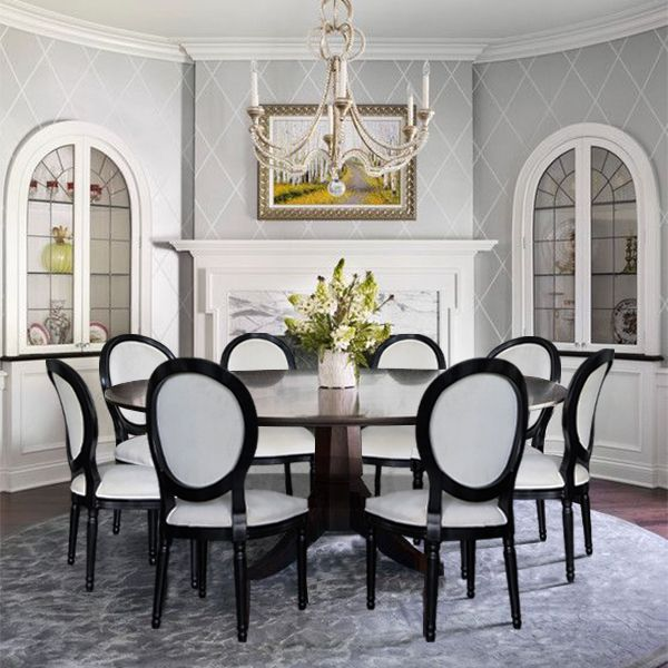 20 King Louis Style Chairs 99bestdecor, Dining Room Sets With King Louis Chairs
