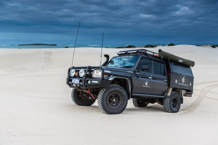 Our review on the 79 Series LandCruiser V8 Turbo Diesel Dual cab Ute, how it handles the beach and the Australia outback...