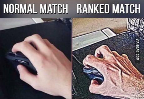 Normal match VS Rank match