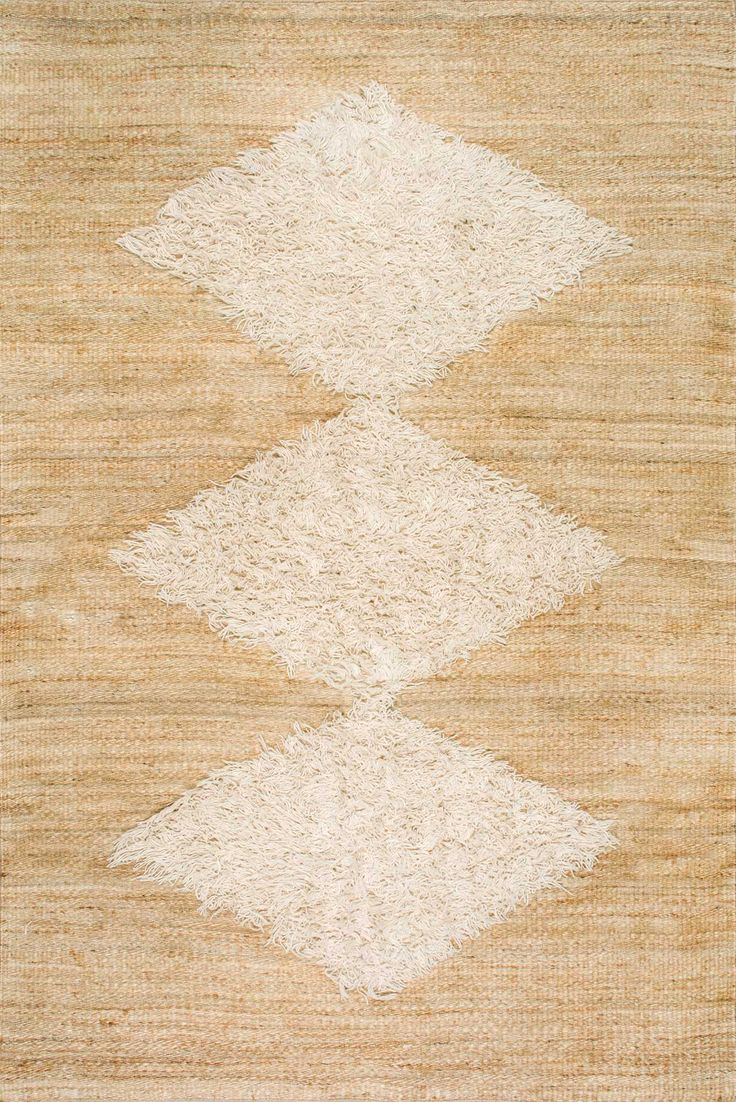 MuskegetNK01 Wool Tufted Diamond Jute Rug