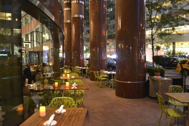 Outdoor Cafe of Sprig Restaurant New York #restaurant #hospitality #design