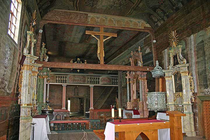 Haczów, wnętrze kościoła NMP