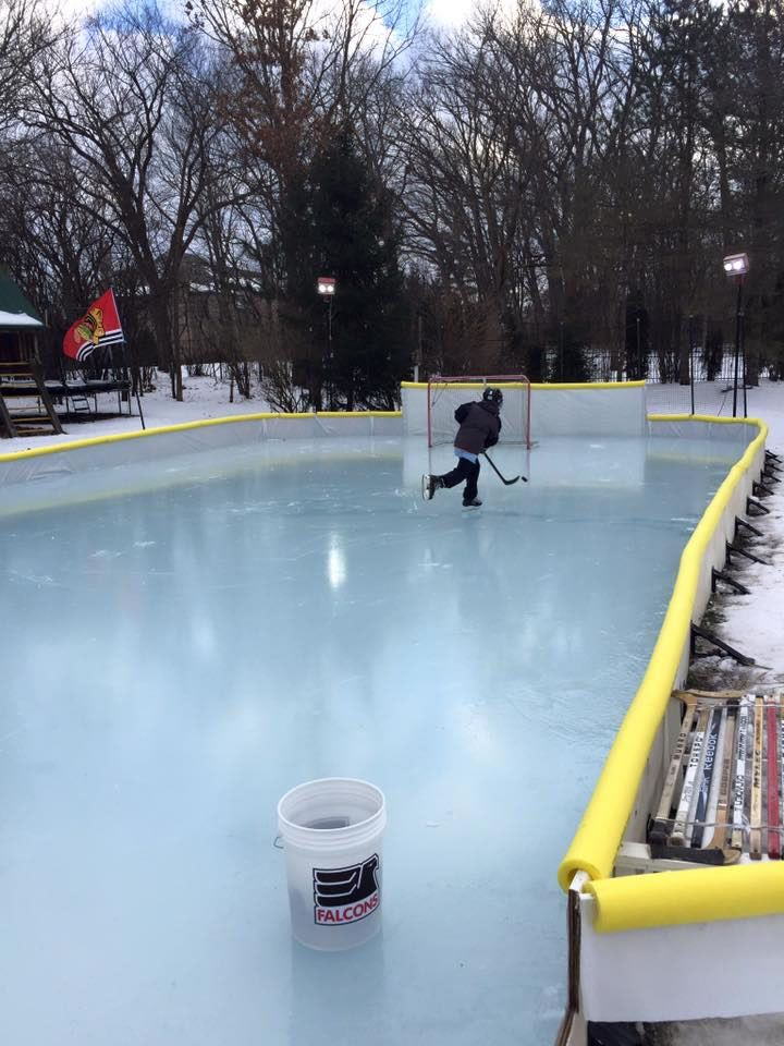 NiceRink Backyard Ice Rink Kit Makes Your Yard The Perfect Place To Skate - #hockey #skating #winter