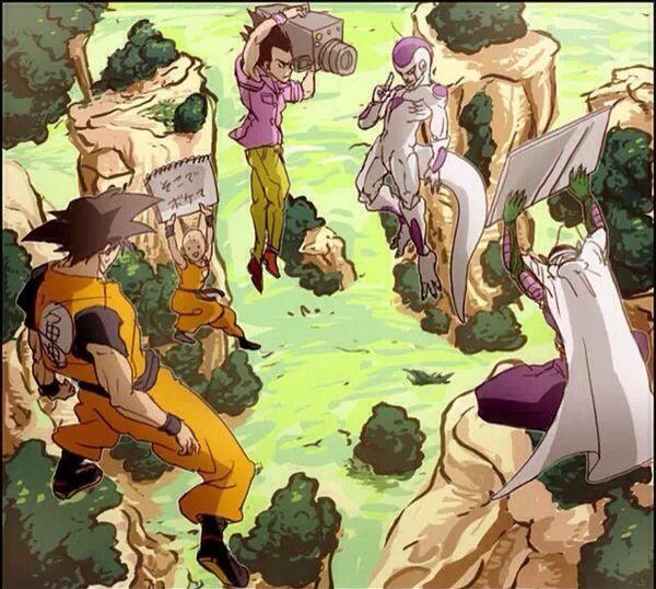 Dragon Ball Z Freeza Vegeta Goku Picolo behing the scenes