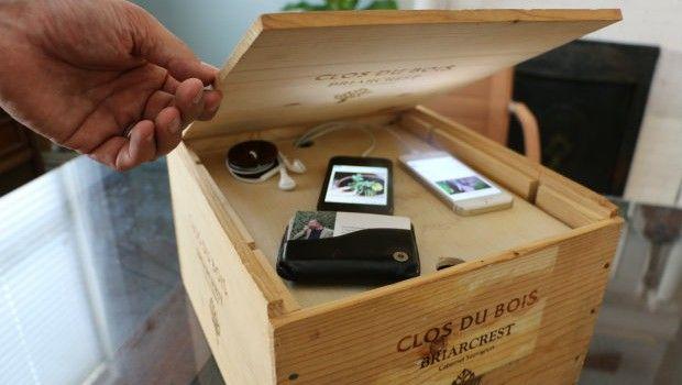 DIY: oplaadstation van een houten kistje